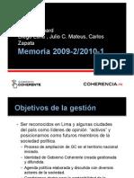 Memoria Consejo GC 2009-2010