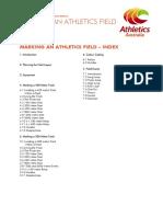 marking athletics field