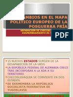 CAMBIOS EN EL MAPA POLÍTICO EUROPEO
