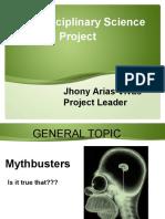 interdisciplinary science project
