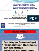 Penerapan Menteri Dalam Negeri Tentang Pedoman Pelaksanaan PUG di Daerah