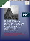Manual Demolicion Rotura Rocas Cementos Expansivos