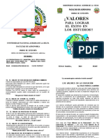 FOLLETO VALORES- 2015
