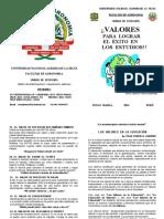 FOLLETO VALORES- 2015