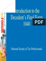 Introduction to the Decedent's Final Form 1040