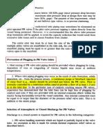 Prevention of PRV Inlet Line Blockage