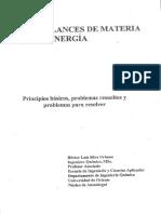 Héctor Silva. Balances de Materia y Energía. Capítulo I