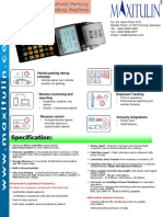 Parking Ticketing Terminal (Revised)- Specification Brochure