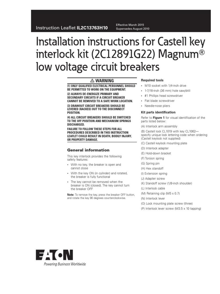 interlock kit magnumt low voltage circuit breakers