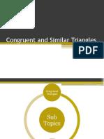 Congruent and Similar Triangles Summary