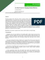 Vibration Analysis of a Steel-Concrete Charging Station Platform