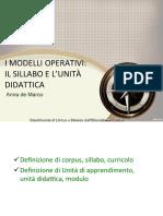 Modelli Operativi - Sillabo E Unità Didattica