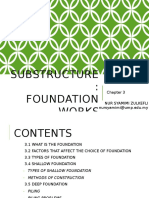 Chapter 3 - Substructure Foundation Works