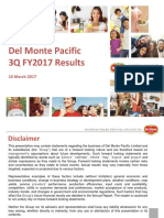 Del Monte Pacific Ltd 3QFY2017 Results Presentation