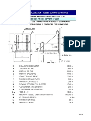 Lug Support Design | Bending | Stress (Mechanics)