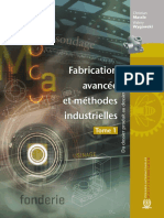 Fabrication Avancee Et Methodes Industrielles Tome 1