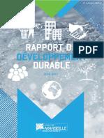 Rapport Annuel développement durable Ville de Marseille