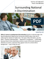 The Rules Surrounding National Origin Discrimination