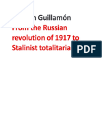 Agustín Guillamón- From the Russian Revolution of 1917 to Stalinist Totalitarianism