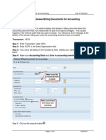 VFX3 – Release Billing Documents for Accounting