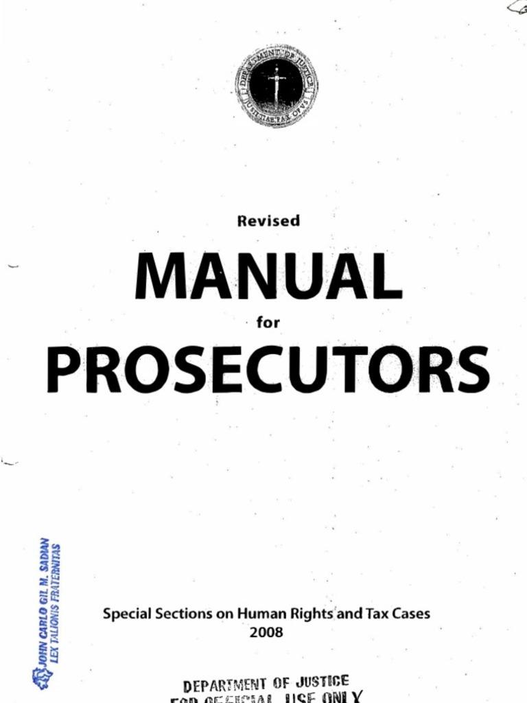 doj nps manual for prosecutors 2008 prosecutor arrest rh scribd com doj national prosecution service manual pdf 2008 national prosecution service manual