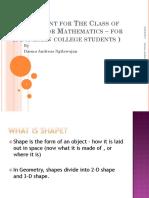 English for Math-Shape