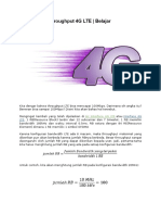 Perhitungan Throughput 4G LTE