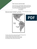 Plate Tectonics Question Bank