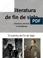 La Literatura de Fin de Siglo
