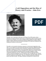 Trotsky the Left Opposition and the Rise of Stalinism