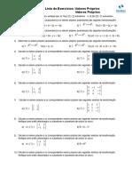 Exercicio Algebra II Autovalores Autovetores
