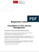 1. ITIL Beginners Guide - A Six Sigma Bonus