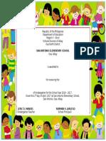 Certificate Kinder