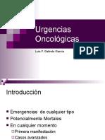 Urgencias Oncológicas