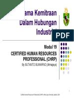 Modul 19 - Kerjasama Kemitraan Dalam Hubungan Industrial 1