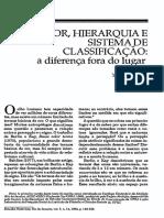 Yvonne Maggie - Cor, hierarquia e sistema de classificação (a diferença fora do lugar).pdf