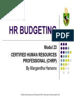 Modul 23 - HR Budgeting