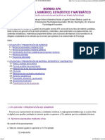 Normas Apa Sobre Material Estadístico y Matemático