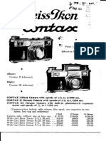 1936 Contax Pricelist