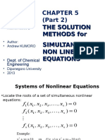 WEEK 5 SOLUTION METHODS FOR SIMULTANEOUS NLEs 2.ppt