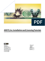 ANSYS, Inc. Installation and Licensing Tutorials