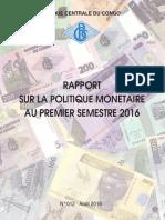 BCC Rapport Sur La Politique Monétaire