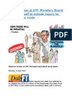 Alleged losses at EPF  Monetary Board will open itself to outside inquiry by playing slow mode.docx