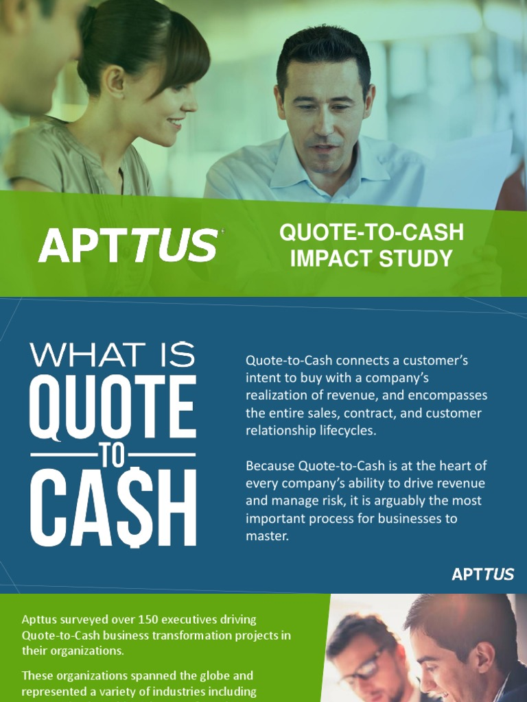 Quote To Cash Apttus Qtc Impact Study 2016  Salesforce  Sales