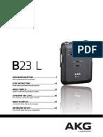Akg b23l Manual