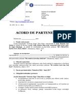 Acord de Parteneriat Be Creative 2016 2017