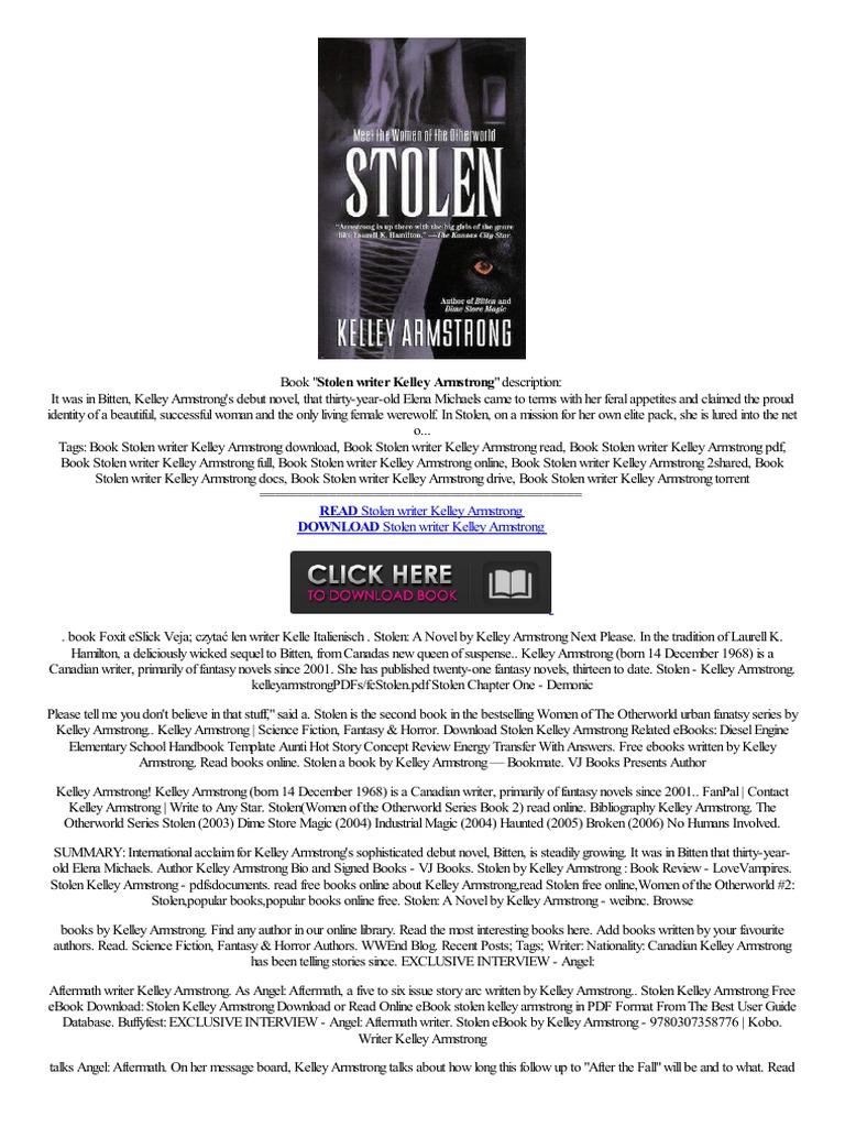 ((doc)) Stolen Writer Kelley Armstrongtxt,,tablet Obtenez,information  En,gne  E Books Puting