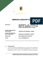 Memoria Descriptiva - Final 2012