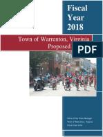 FY18 Proposed Warrenton Budget
