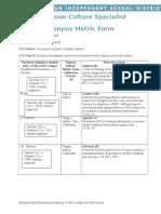 leonard campus metric form